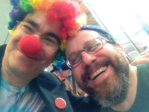 Me with my dear friend and Rabbi, Brant Rosen. He's such a clown!