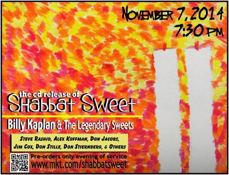 CD Release Shabbat poster